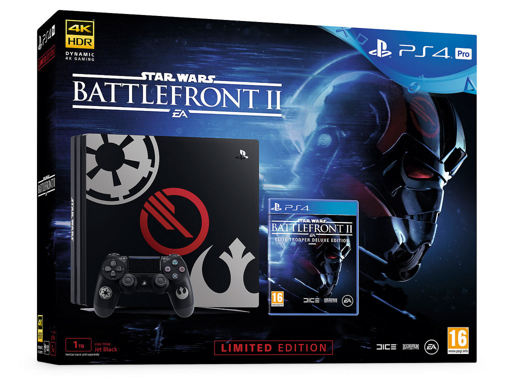 PS4 PRO 1TB SW Battlefront II Limited Edition Console Bundle for PS4 image