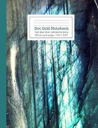 Dot Grid Notebook Teal Blue Silver Labradorite Stone by Ahri's Notebooks & Journals
