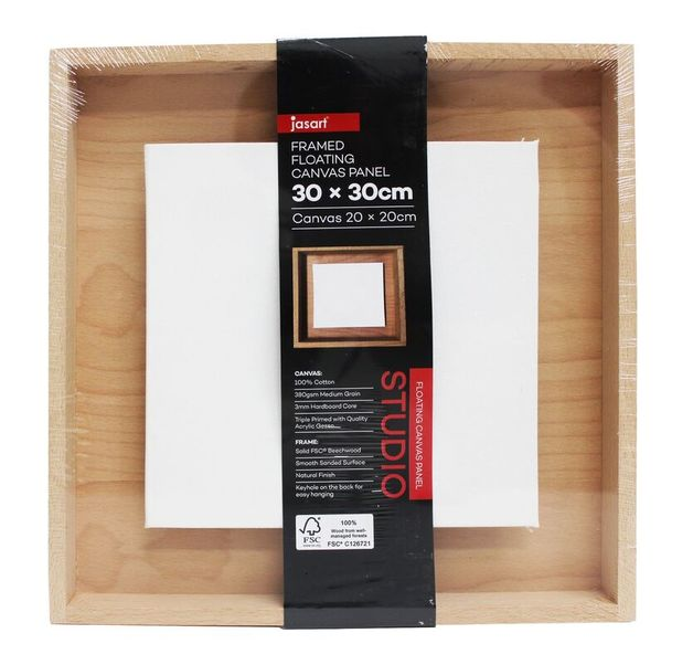 Jasart: Framed Floating Canvas Panel (30x30cm)