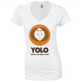 South Park Kenny Yolo White Women's T-Shirt (XL)