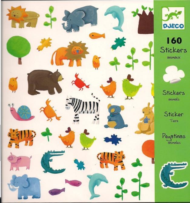 Djeco Design Animals Stickers