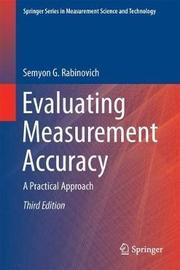 Evaluating Measurement Accuracy by Semyon G. Rabinovich