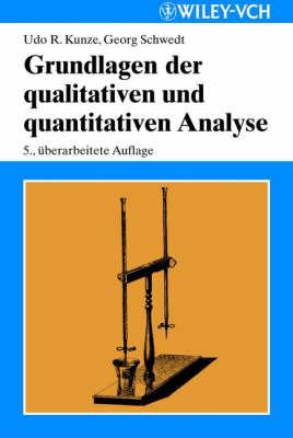 Grundlagen der Qualitativen und Quantitativen Analyse by Georg Schwedt image