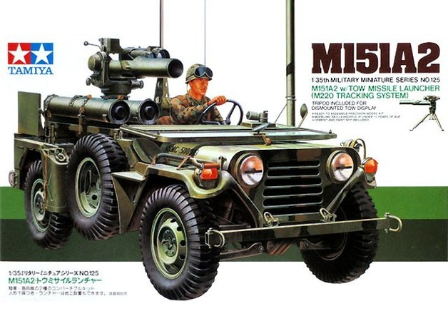Tamiya U.S. M151A2 with Tow Launcher 1/35 Model Kit