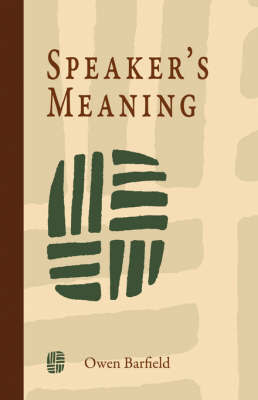 Speaker's Meaning by Owen Barfield image