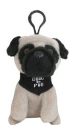 Doug The Pug: Backpack Clip (Black)