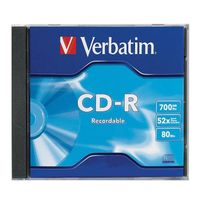 Verbatim CD-R 700MB Jewel Case 52x (1 Pack)
