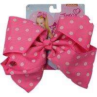 JoJo Siwa Small Polka Dot Large Bow - Pink with White Dots