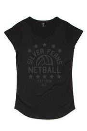 Silver Fern Stars Black Kids T-Shirt (Size 8)