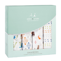 Aden + Anais: Classic Swaddle - Paper Tales (4 Pack)