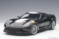 Autoart: 1/18 Chevrolet Corvette Grand Sport (Black/Yellow) - Diecast Model