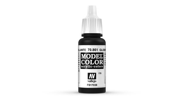 Vallejo Model Colour Glossy Black 17ml