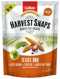 Calbee: Harvest Snaps Baked Pea Crisps - Texas BBQ (93g)