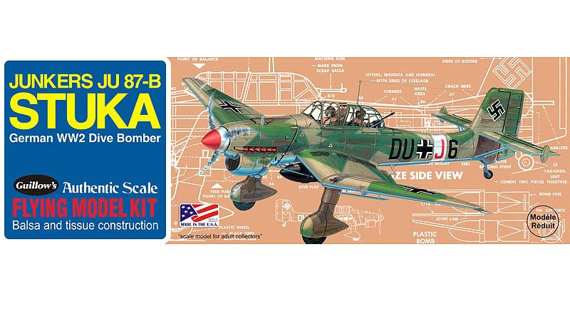 Junkers JU-87B Stuka 1/30 Balsa Model Kit image