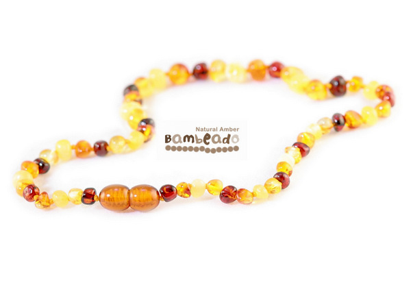 Bambeado Amber Necklace Baby Bud - Mixed image