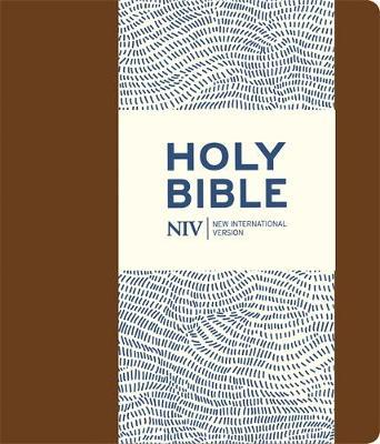 NIV Journalling Brown Imitation Leather Bible with Clasp by New International Version