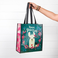 Natural Life: Recycled Gift Bag - Llove You Llots Llama (Large)