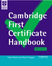 Cambridge First Certificate Handbook Self-study Pack by Helen Naylor image