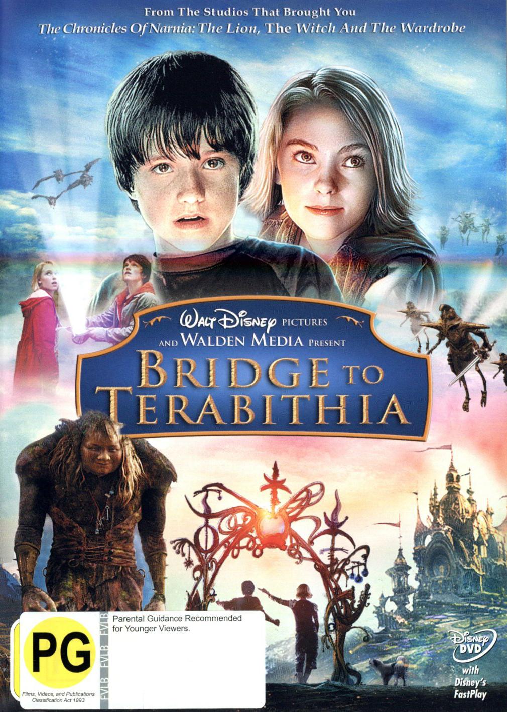 Bridge To Terabithia on DVD image