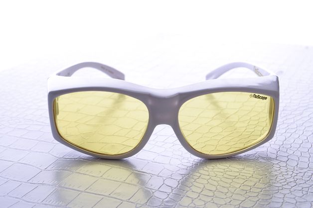 NoScope Golem Gaming Glasses (Rx Compatible) – Frost White for PC Games