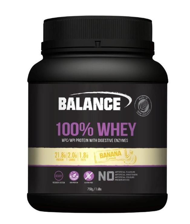 Balance 100% Whey Protein Powder - Banana (750g)