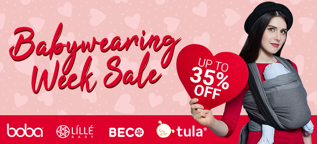Babywearing week sale-up to 35% off