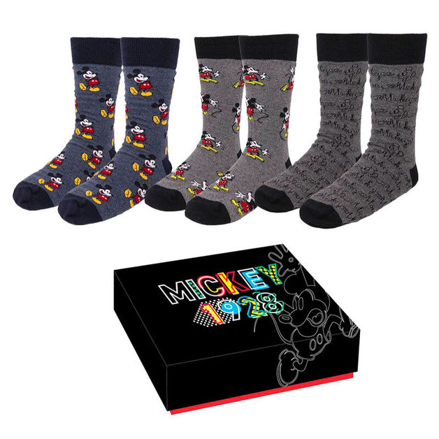 Disney: Mickey Mouse Womens Socks - 3-Pack (Size: 35/41)