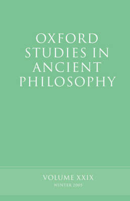 Oxford Studies in Ancient Philosophy XXIX
