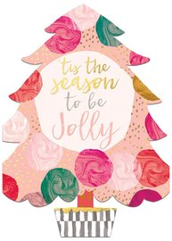 Hammond Gower: Tis The Season Tree - Diecut Greeting Card