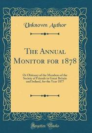 The Annual Monitor for 1878 by Unknown Author image