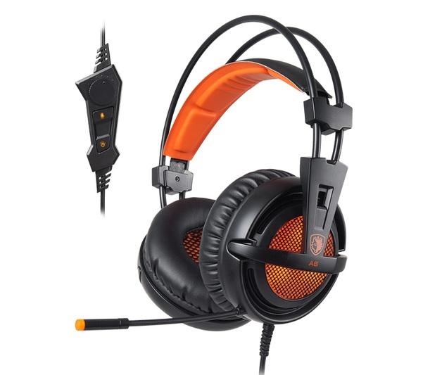 SADES A6 Gaming Headset (Orange) for PC