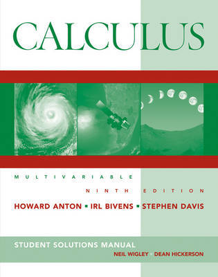 Calculus: Multivariable: Student Solutions Manual by Howard Anton image