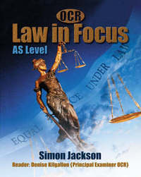 OCR Law in Focus: AS Level by Simon Jackson image