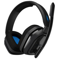 Astro A10 Wired Headset (Grey/Blue) for PS4