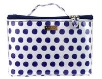 Wicked Sista: Navy Spots Large Beauty Cosmetic Bag