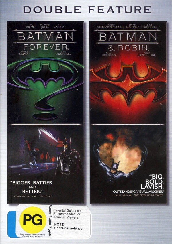 Batman Forever / Batman And Robin - Double Feature (2 Disc Set) on DVD image