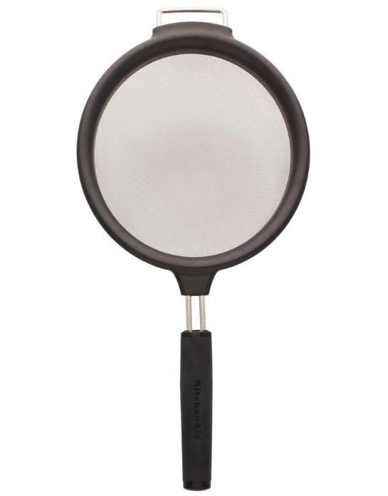 KitchenAid: Soft Touch Strainer - Black (17.5cm)