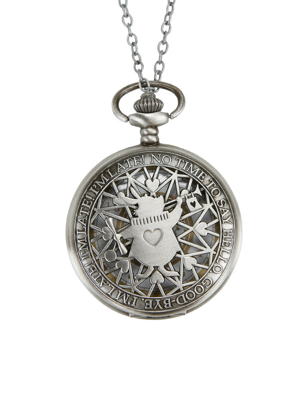 Neon Tuesday: Alice In Wonderland - Late Rabbit Pocket Watch Necklace