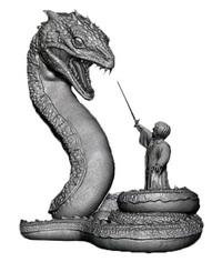 Harry Potter: Harry & Basilisk - Premium Motion Statue