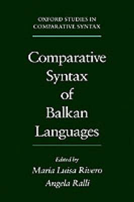 Comparative Syntax of the Balkan Languages image