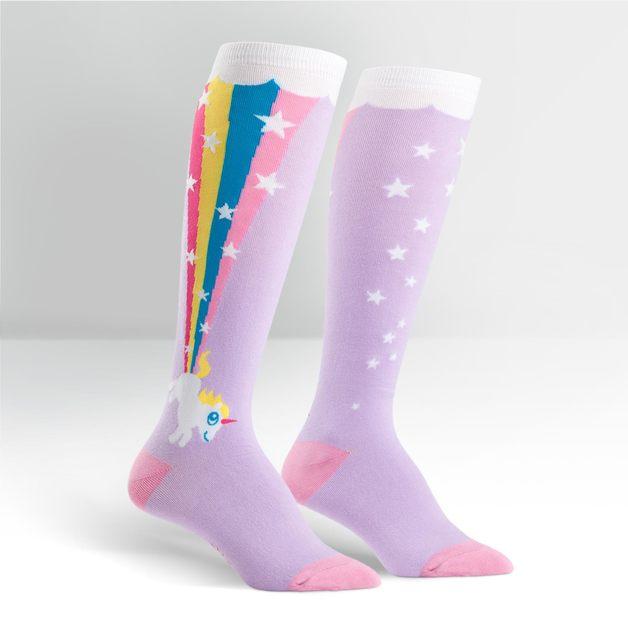 SOCK it to Me: Womens - Rainbow Blast Knee High Socks