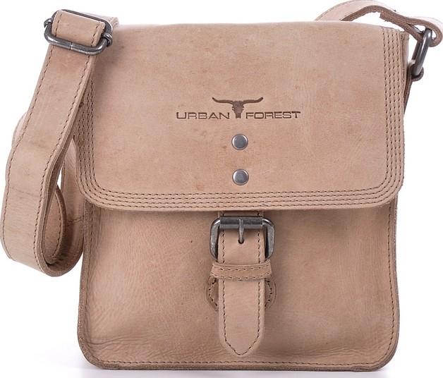 Urban Forest: Little Joe Leather Body Bag - Natural