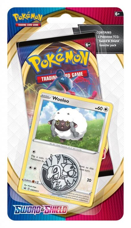 Pokemon TCG: Sword and Shield Checklane Blister- Wooloo