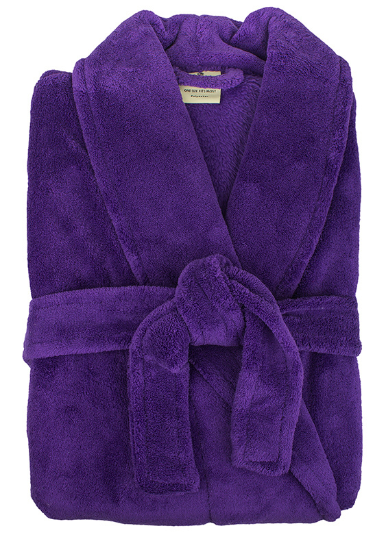 Bambury: Retreat Microplush Robe - Violet M/L image
