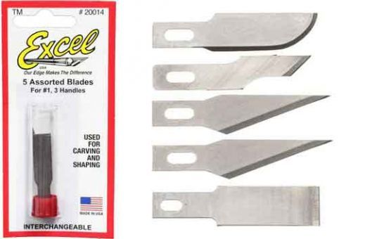Excel 5 Assorted Light Duty Blades (5pcs)