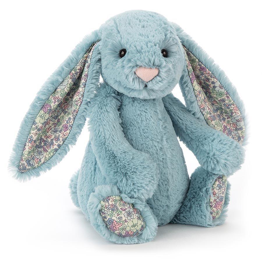 Jellycat: Blossom Aqua Bunny - Medium Plush image