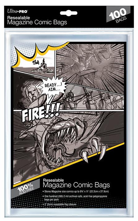 "Ultra Pro: Resealable Magazine Comic Bags - (8.75"" x 11"")"