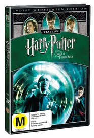 Harry Potter and the Order of the Phoenix - 1 Disc on DVD image