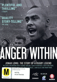 Anger Within: Jonah Lomu The Outstanding Story of a Rugby Legend DVD