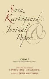 Soren Kierkegaard's Journals and Papers, Volume 7 by Soren Kierkegaard